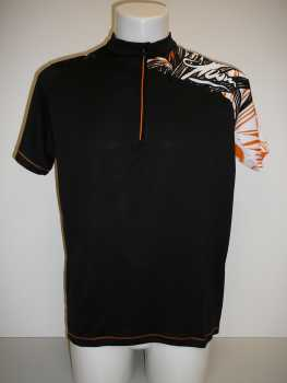 Qloom Armadale Short Sleeve Bike Shirt Black Orange